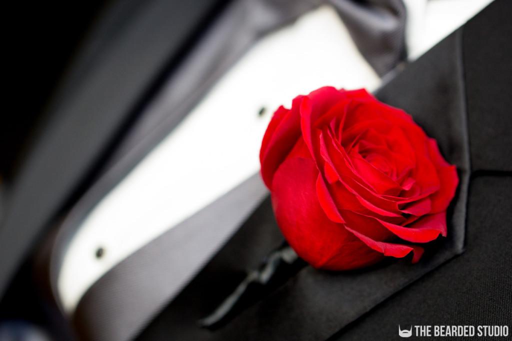 Wedding Boutineer Rose