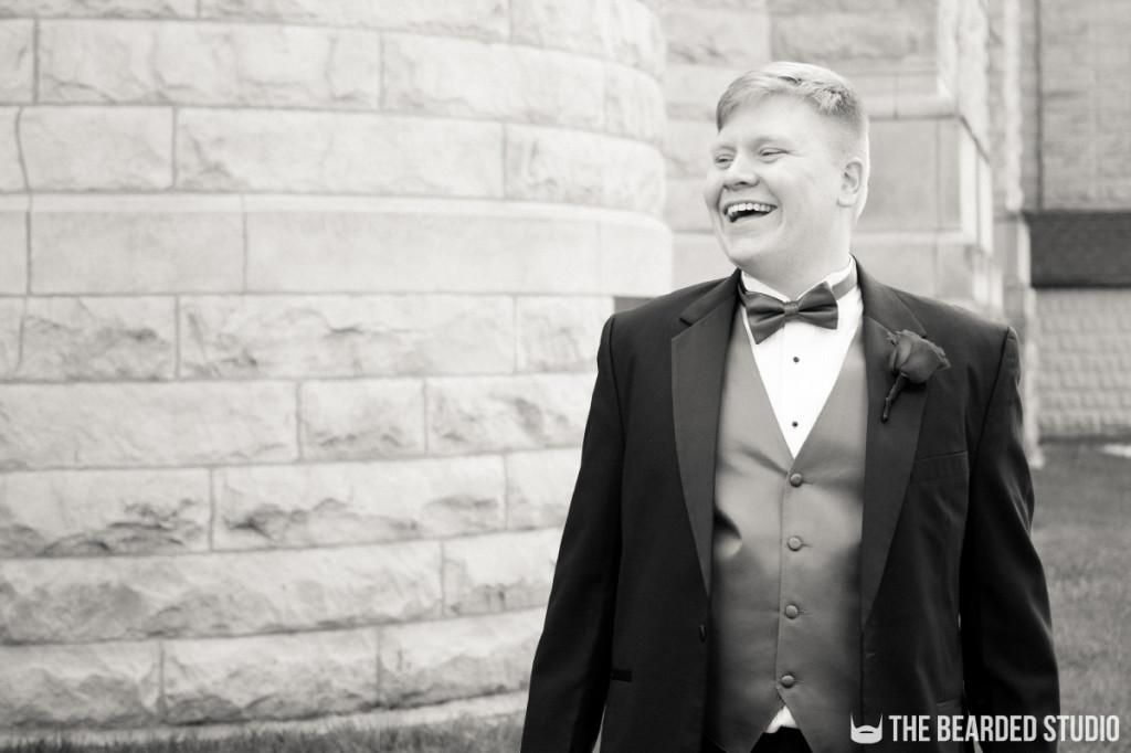 Groom Wedding Portrait Fun