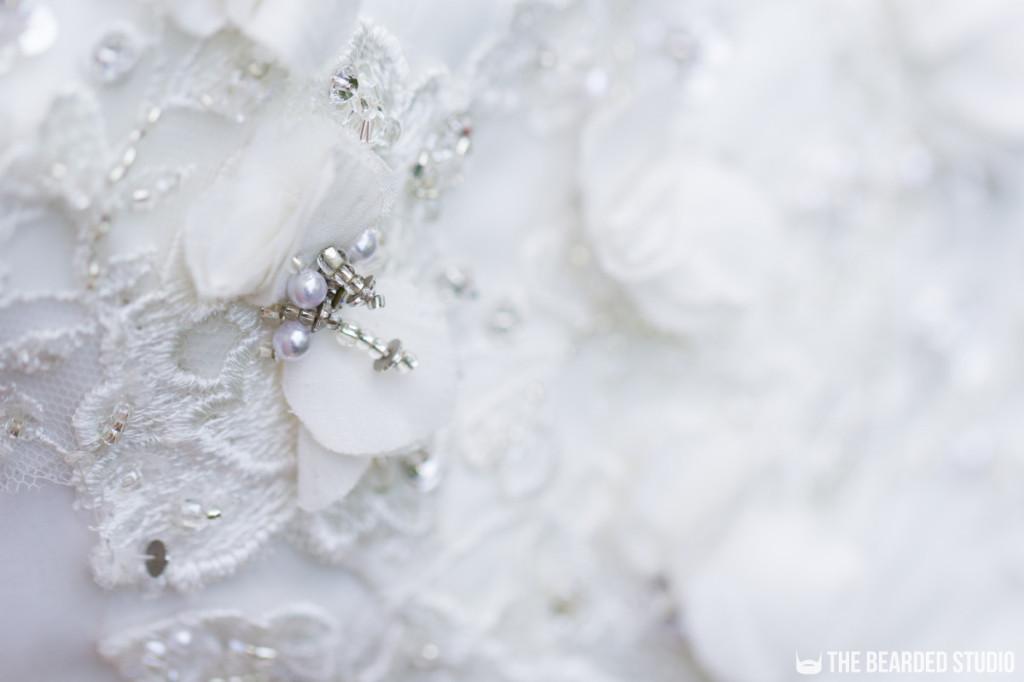 Wedding Dress Bead Detail
