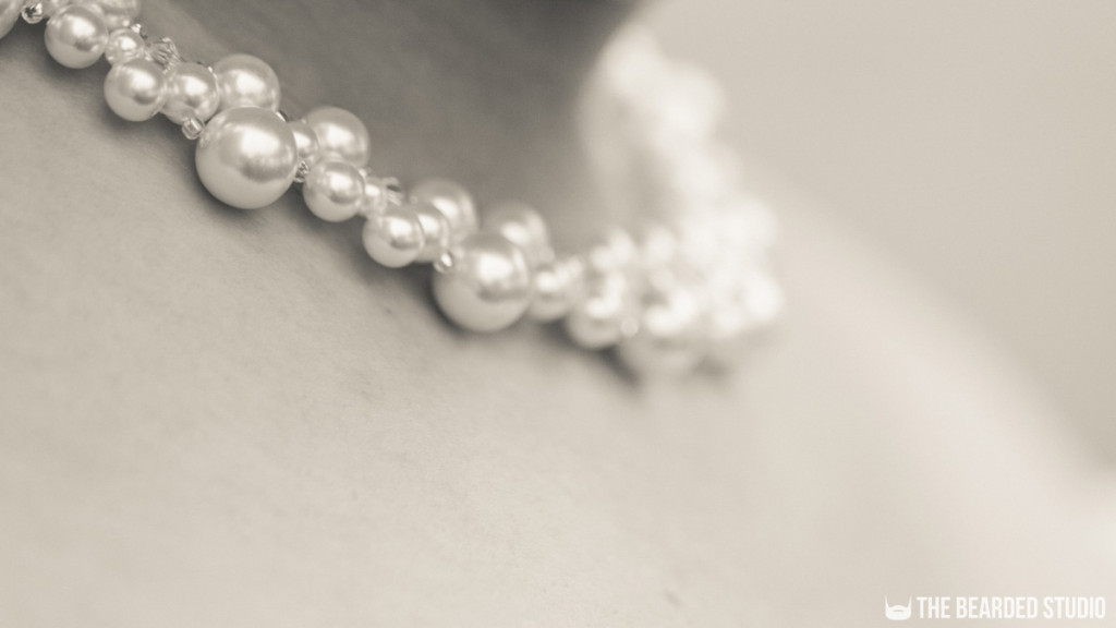 Bride Necklace Detail Beads