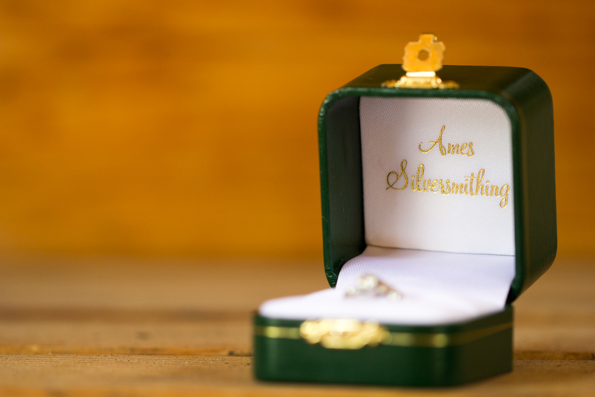 Ames Silversmithing Wedding Ring Box