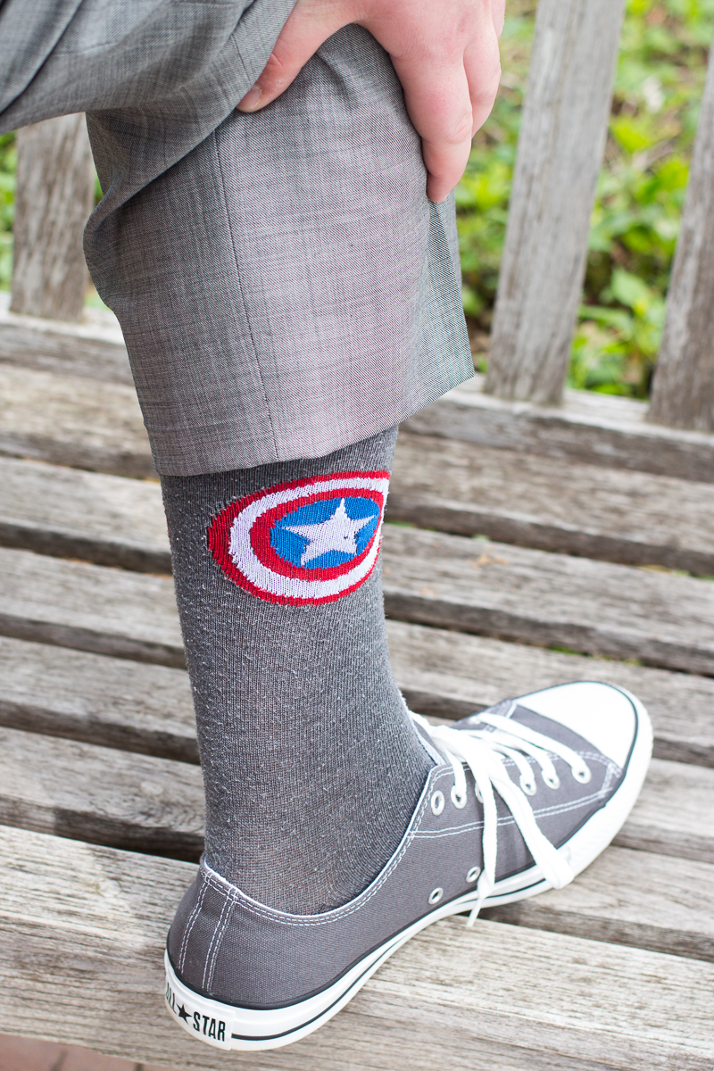 Grooms Superhero Socks