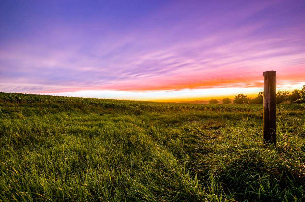 Iowa Sunset Field HDR