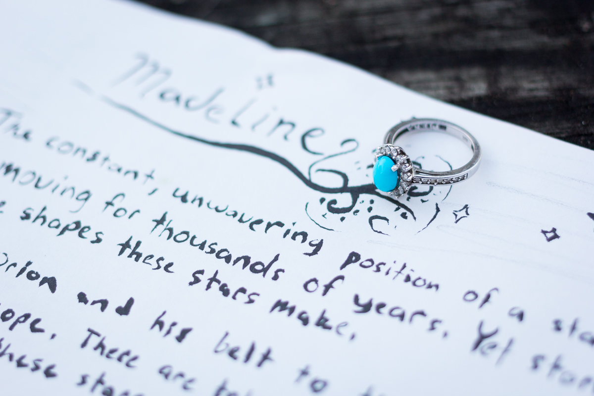 Engagement Photographer Des Moines Ring With Letter
