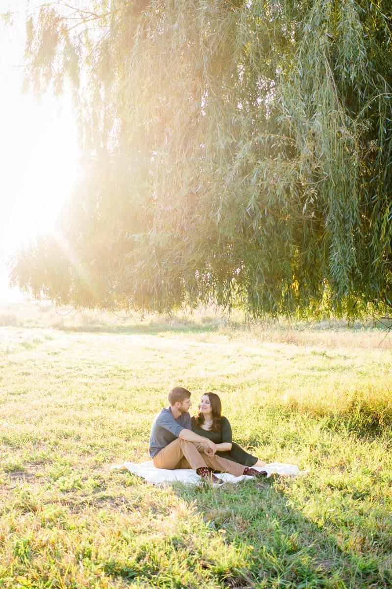 Engagement Photographer Des Moines Sunset