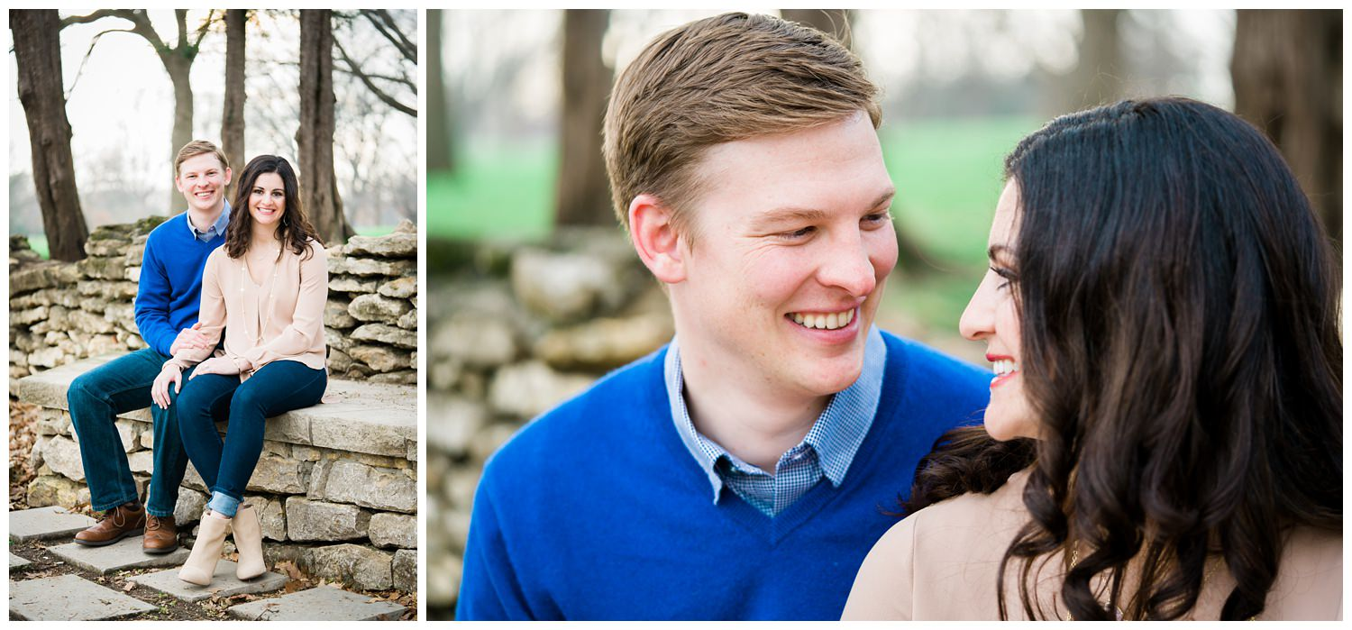 loose park kansas city engagement photography