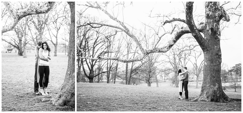 loose park Kansas city engagement photography
