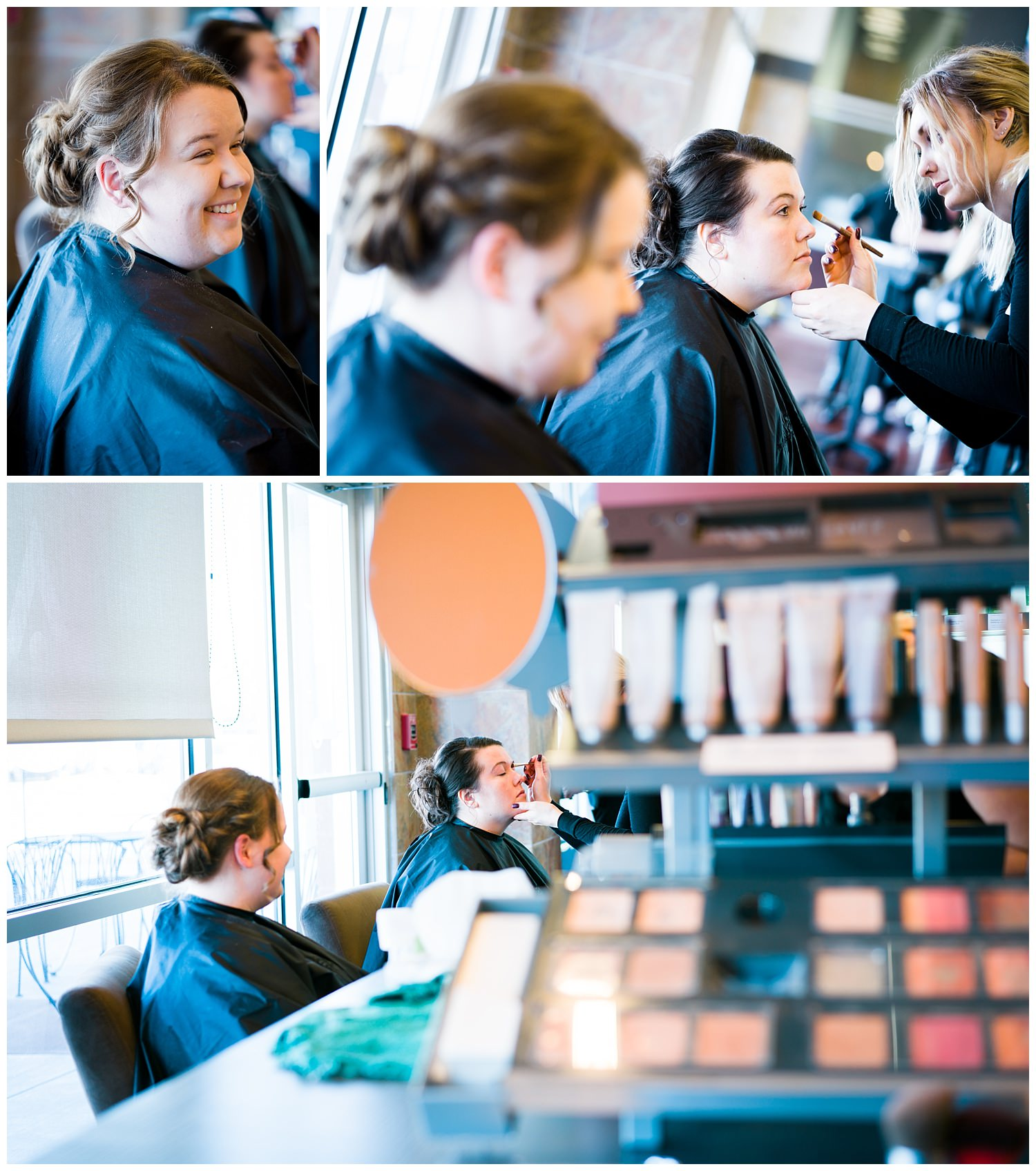 hair and makeup des moines wedding