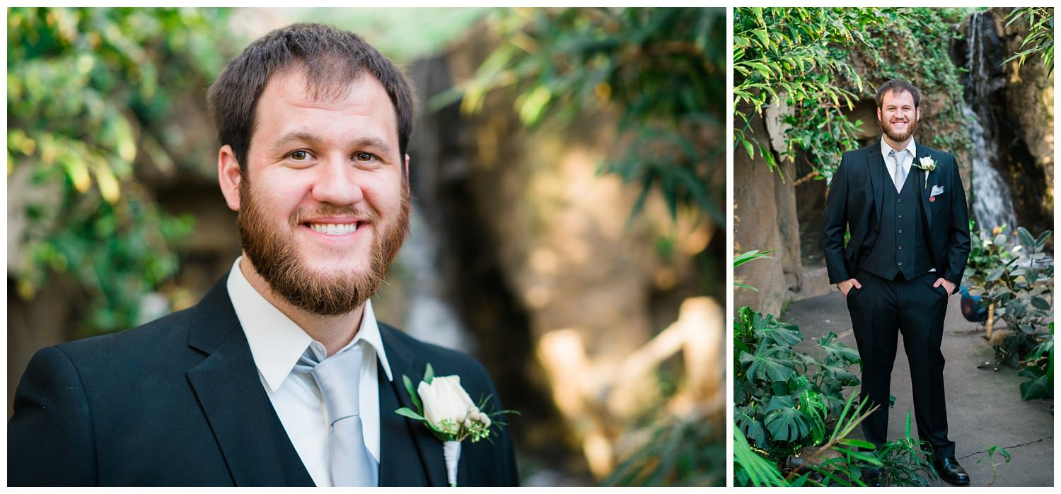 wedding groom portrait blank park zoo