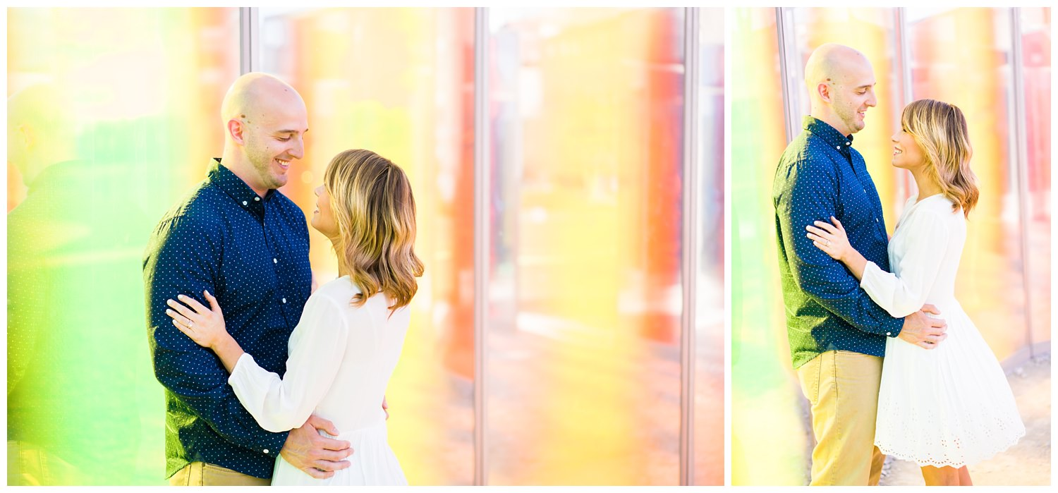 papa johns sclupture park engagement photography