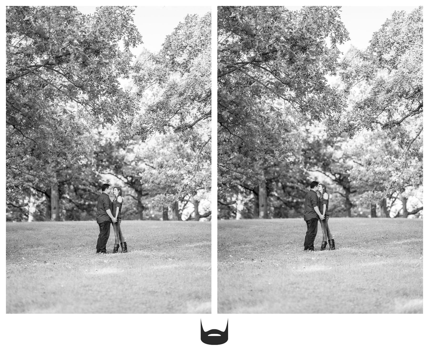des moines engagement photography romantic