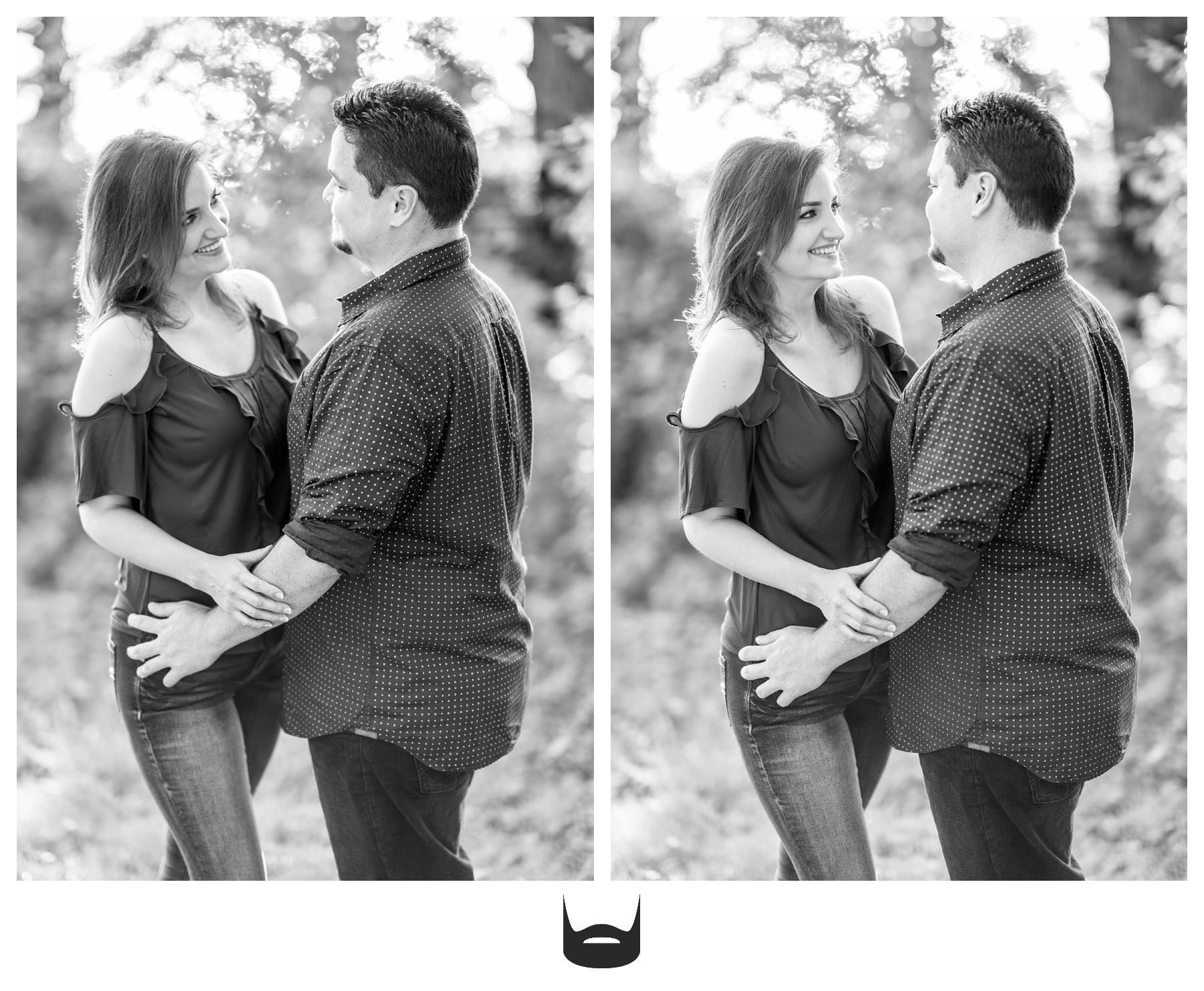 des moines engagement photography happy couple