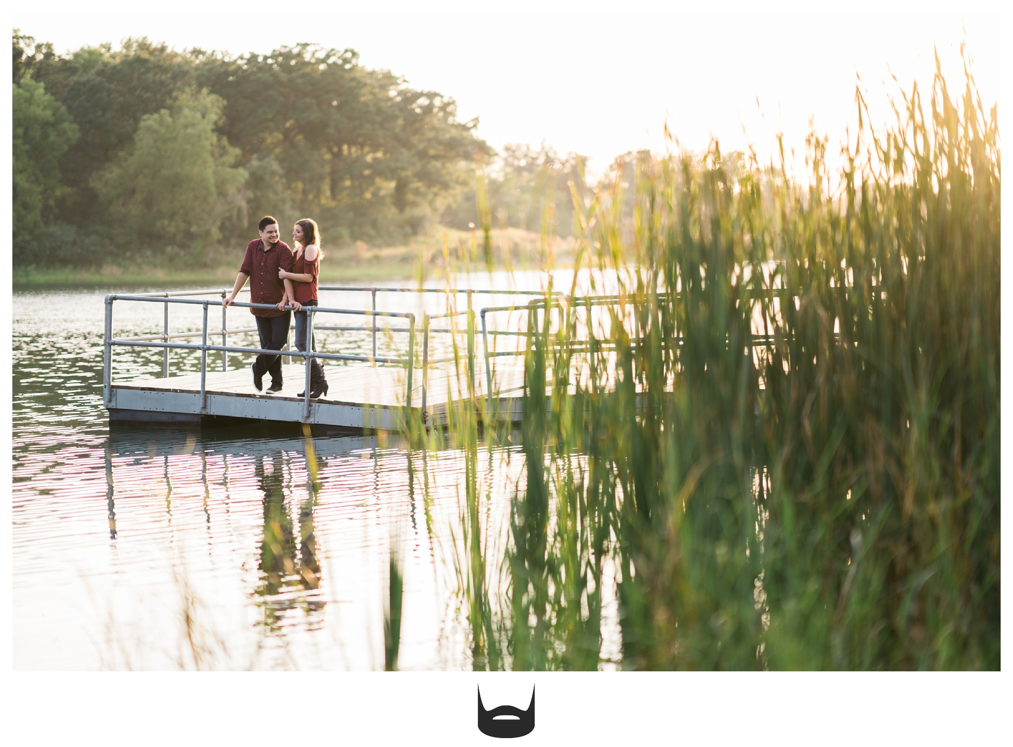 des moines engagement photography water