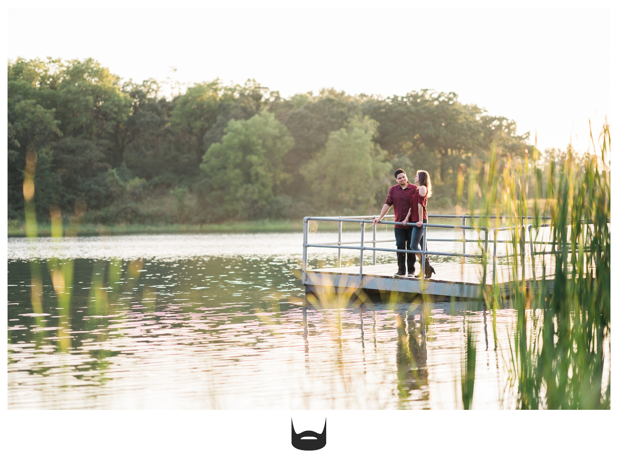 des moines engagement photography lake