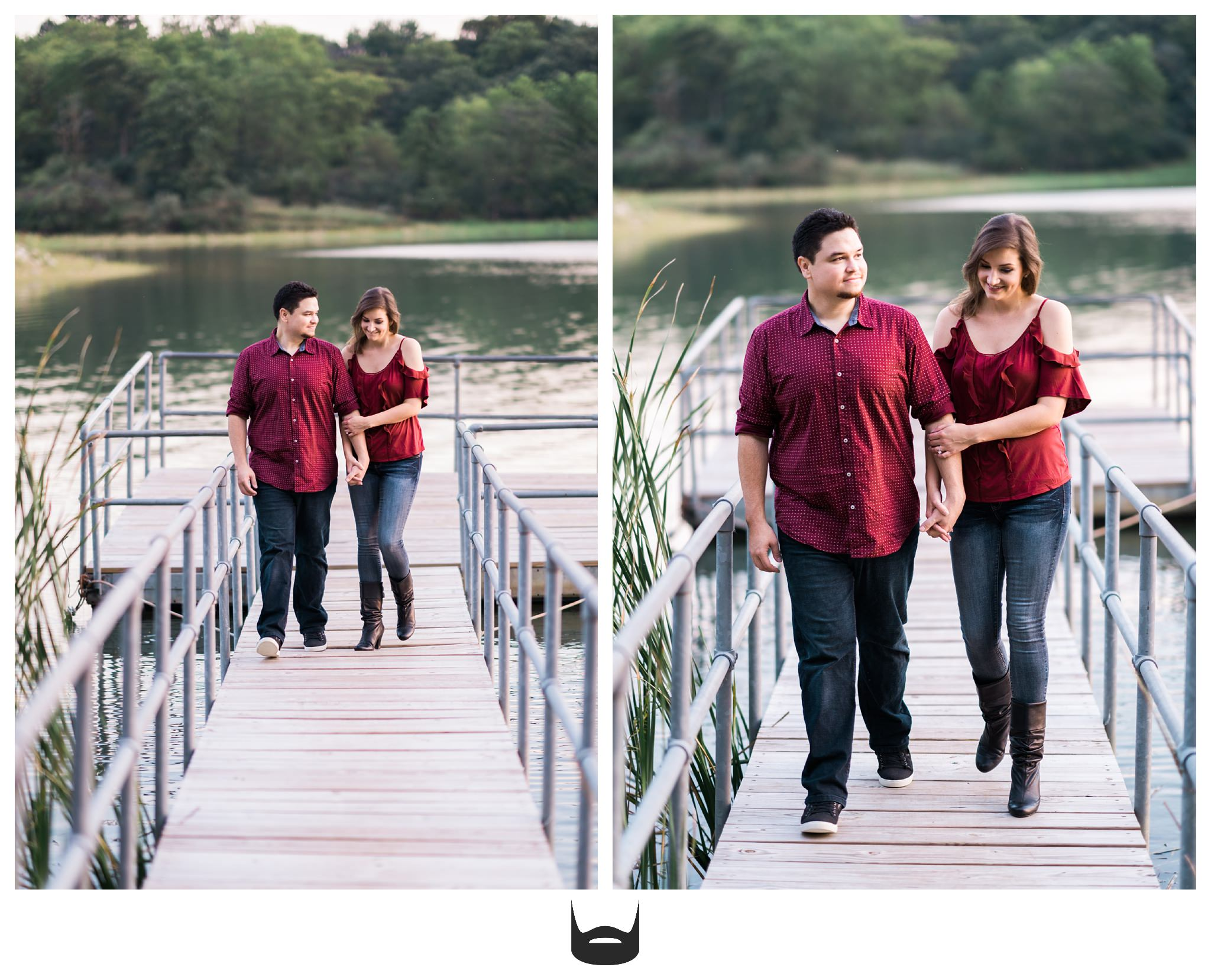des moines engagement photography walking