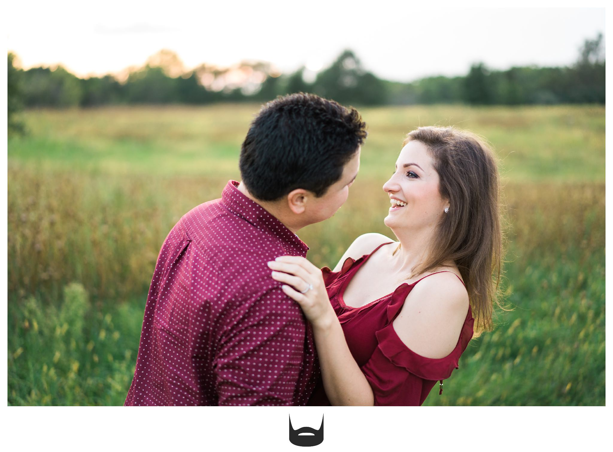 des moines engagement photography sunset