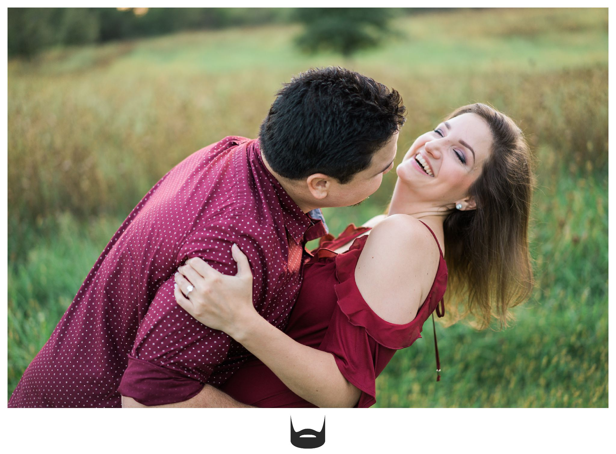 des moines engagement photography laughing