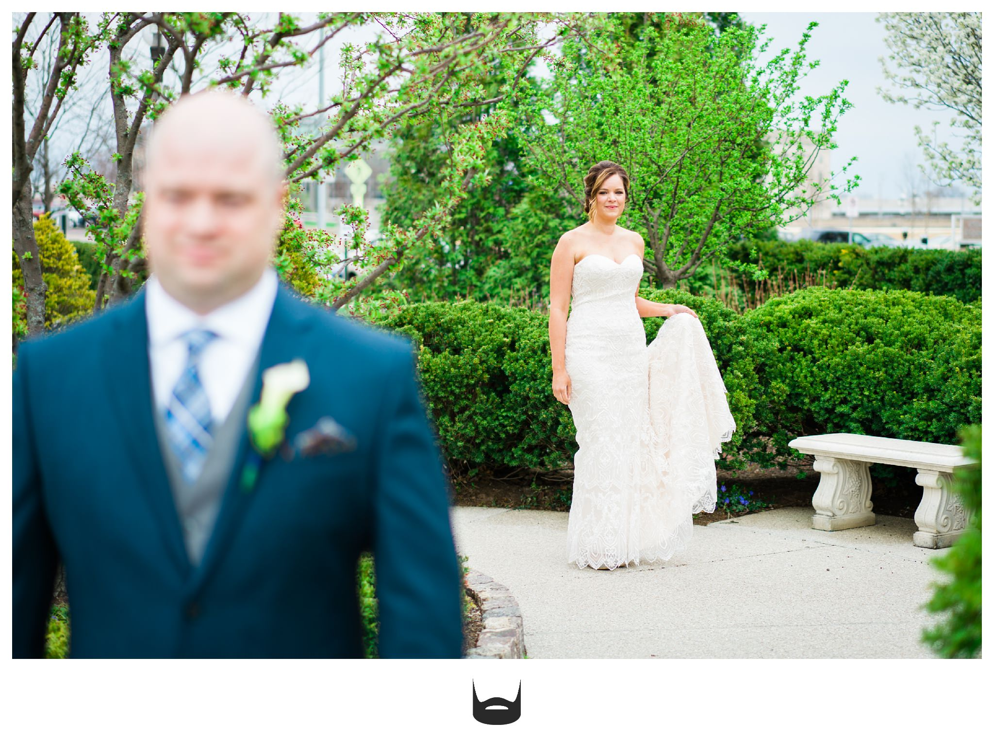 Des Moines Wedding First Look Photography