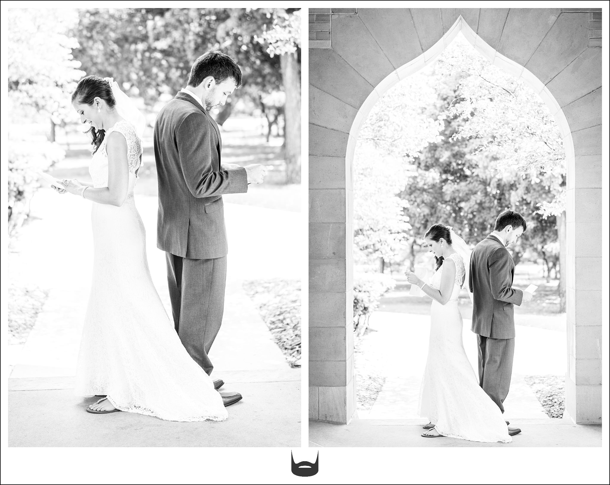First Look Wedding Photography ISU Campanile
