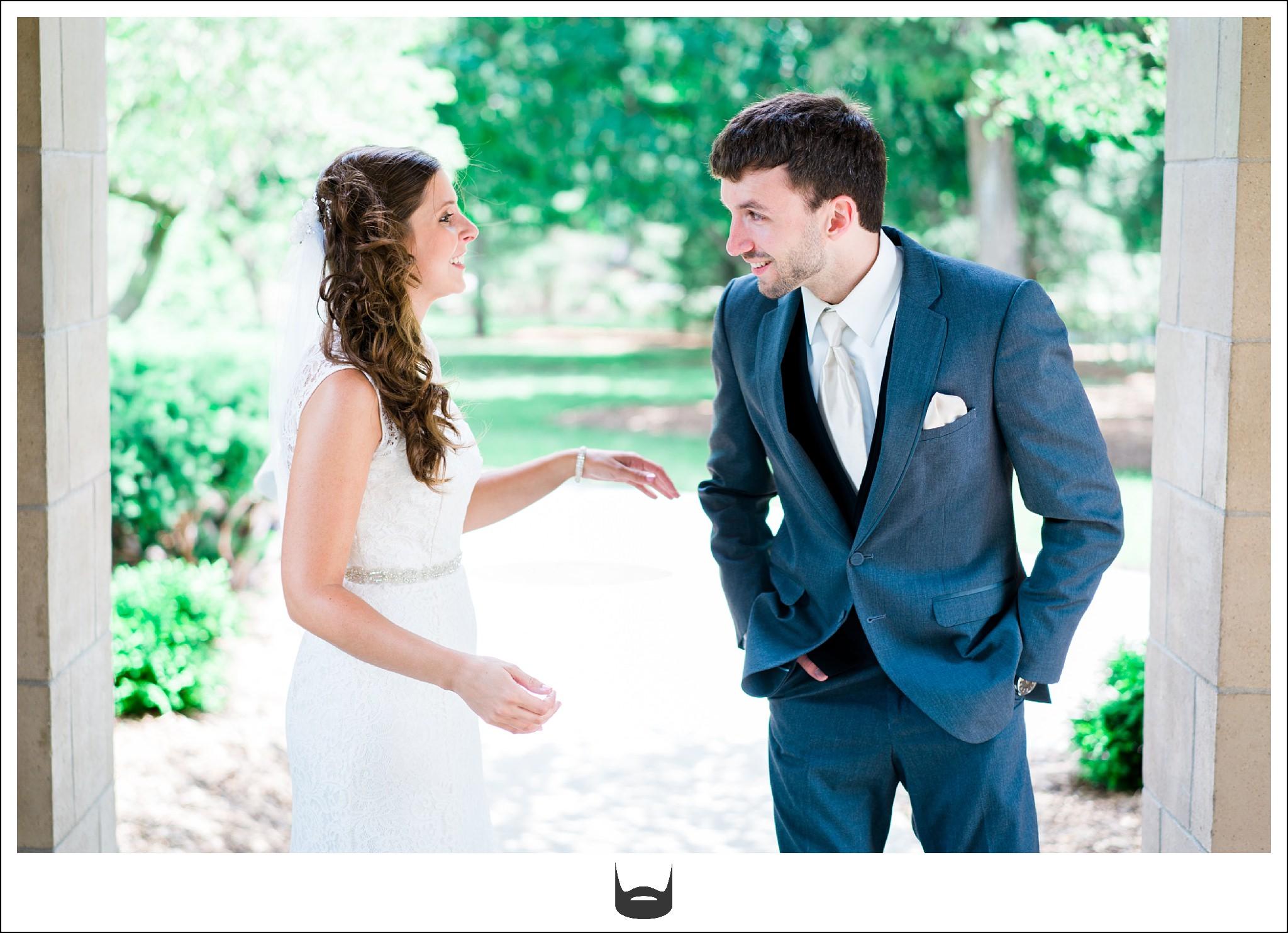 First Look Wedding Photography ISU Campanile