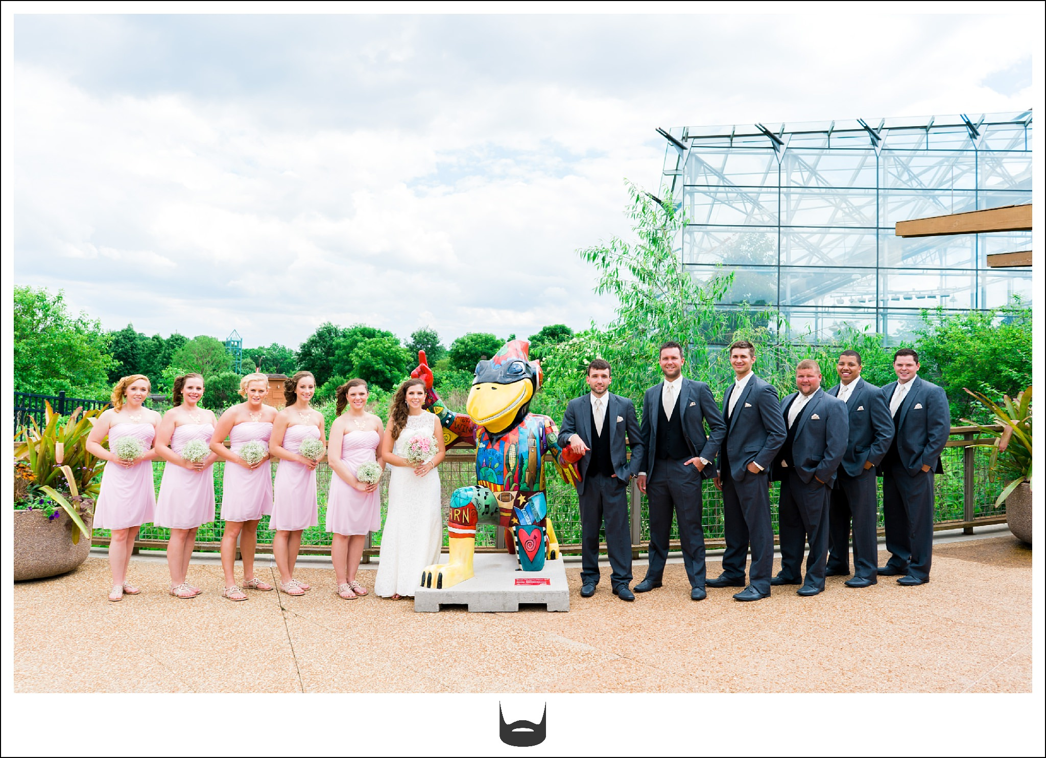 Ames Iowa Wedding Photography Reiman Gardens Cy Mascot